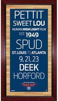 "Steiner Sports Atlanta Hawks 32"" x 16"" Vintage Subway Sign"