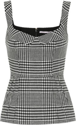 Emilia Wickstead Judy checked wool-blend top