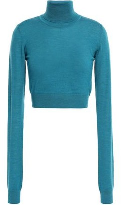 Emilio Pucci Cropped Wool Turtleneck Sweater