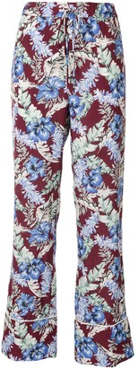 Ports 1961 Floral-Print Straight-Leg Trousers