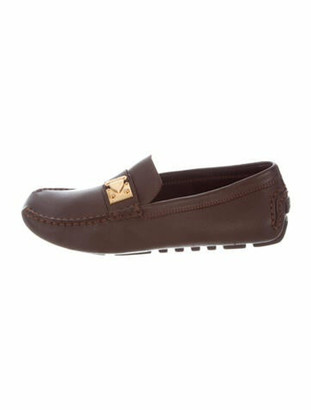 Louis Vuitton S-Lock Leather Loafers Brown