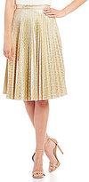 Eva Franco Pleated Metallic Skirt