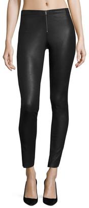 Alice + Olivia Front-Zip Leather Legging