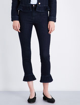 J Brand Maude frill-detail skinny high-rise jeans