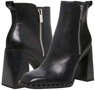 Steve Madden Whisper Bootie (Black Leather) Women's Shoes