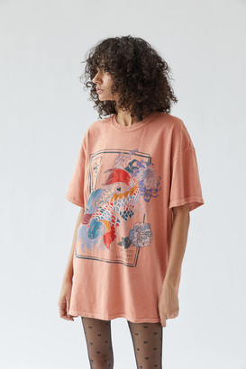 Urban Outfitters Beauty And Chaos Koi Fish T-Shirt Dress