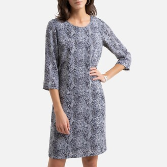 Anne Weyburn Animal Print Shift Dress