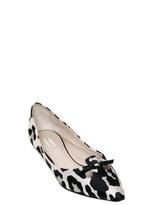 Marc Jacobs 10mm Leopard Print Satin Ballerina Flats