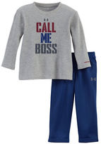 Under Armour Baby Boys Two-Piece Call Me Boss Tee and Sweatpants Set