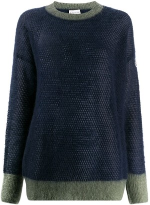 Moncler Two-Tone Knit Fleece Jumper