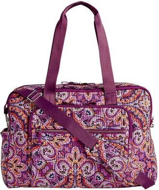 Vera Bradley Signature Iconic Deluxe Weekender Travel Bag