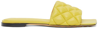 Bottega Veneta Yellow Intrecciato Padded Flat Sandals