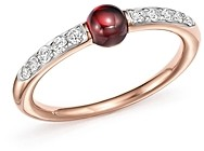 Pomellato M'Ama Non M'Ama Ring with Garnet and Diamonds in 18K Rose Gold