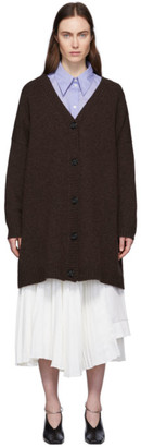 Acne Studios Brown Wool Oversized Cardigan