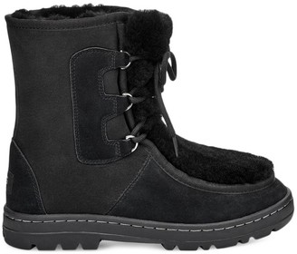 Mukluk Revival Sheepskin-Lined Suede Boots