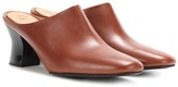 The Row Adela Leather Slippers