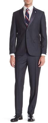 Ben Sherman Cedar Blue Two Button Notch Lapel Slim Fit Tuxedo