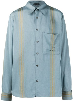 Ann Demeulemeester Striped Long-Sleeve Shirt