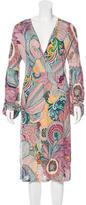 M Missoni Jersey Knit Midi Dress