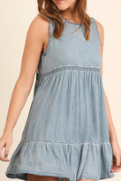 Umgee USA Sleeveless A Line Dress