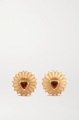 Alice Cicolini Summer Snow 9-karat Gold, Citrine And Garnet Earrings - one size