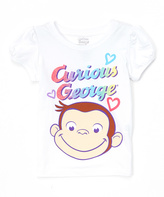 Freeze White Curious George Tee - Toddler & Girls