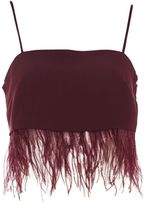 Topshop Feather Hem Camisole Top