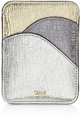 Chloé Metallic Leather Card Holder