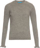 MiH Jeans Harpy ruffled-cuff alpaca-wool sweater