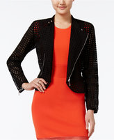 Bar III Eyelet Moto Jacket, Created for Macy's