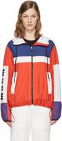 MSGM Red Parachute Windbreaker Jacket