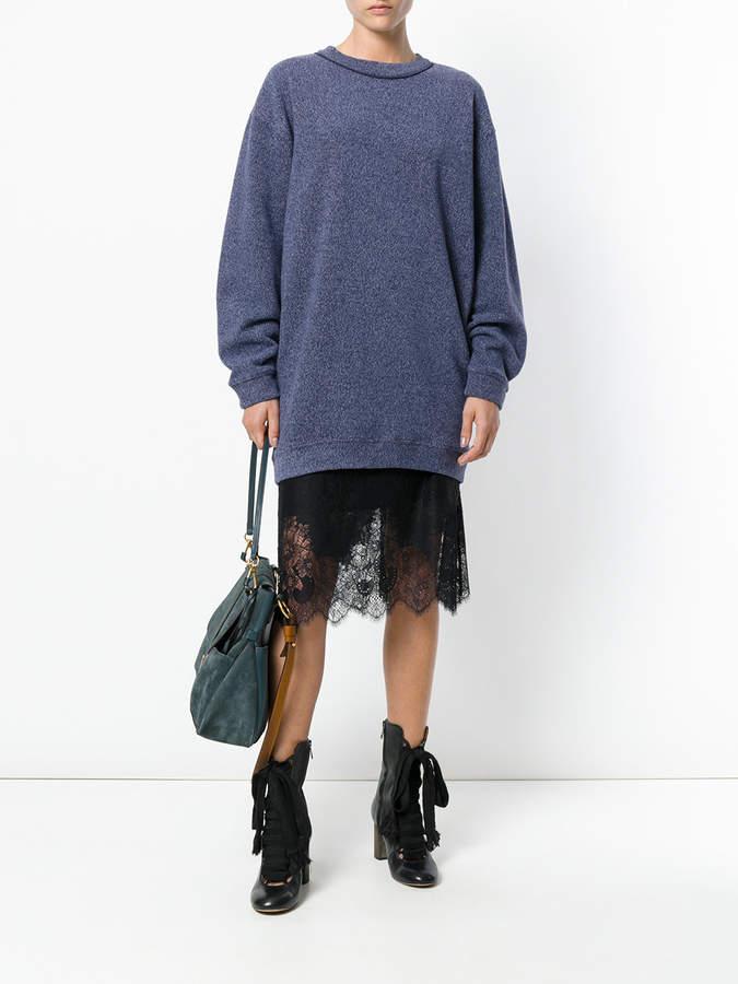 See by Chloe Oversized marl sweatshirt