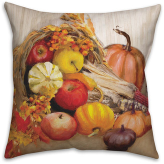 """Designs Direct Creative Group Harvest Painterly 18""""x18"""" Throw Pillow"""