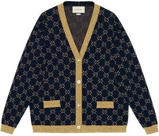 Gucci GG Supreme metallic cardigan