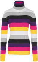 Courreges Stripped Turtle Neck Top
