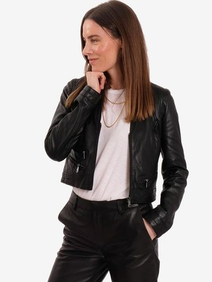 Oakwood Rachel Leather Jacket Black - XS