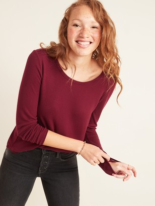 Old Navy Cozy Plush-Knit Long-Sleeve Tee for Women