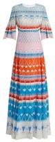 Peter Pilotto Multi-print silk pleated maxi dress