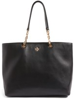 Tory Burch Frida Pebbled Leather Tote - Black