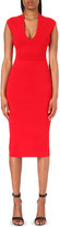 MICHAEL Michael Kors V-neck stretch-knit bodycon dress
