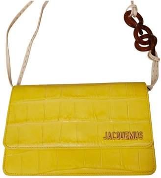 Jacquemus Le Riviera Yellow Leather Handbags