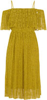 Whistles Off Shoulder Pleated Dress