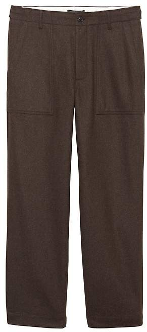 Banana Republic JAPAN EXCLUSIVE Relaxed Italian Wool-Blend Utility Pant