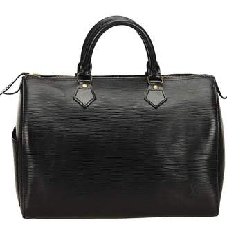 Louis Vuitton Vintage Speedy Black Leather Handbag