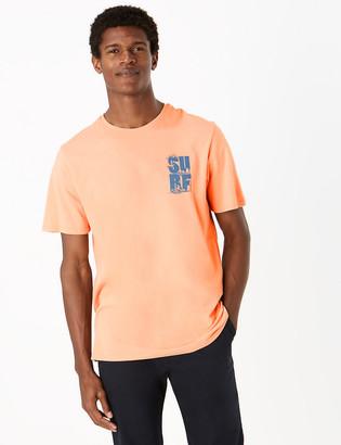 Marks and Spencer Pure Cotton Surf Print Pyjama Top