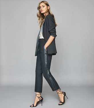 Reiss CLEO Double Breasted Blazer Petrol