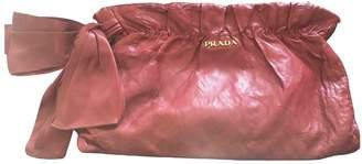 Prada Burgundy Leather Clutch bags