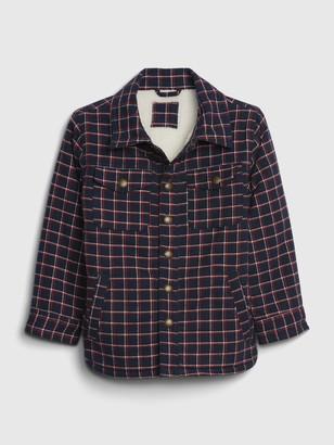 Gap Toddler Plaid Shirt Jacket