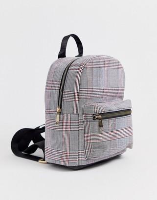 Yoki Fashions plaid check print backpack