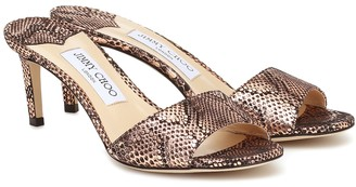 Jimmy Choo Stacey 65 snake-effect sandals